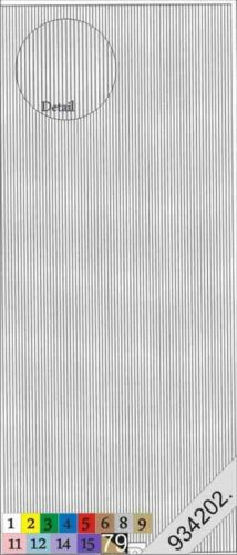 plata líneas nº 1082 Sticker arcos