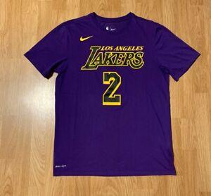 Details about Nike Dri-Fit Lonzo Ball Los Angeles Lakers Statement Jersey T-Shirt Men's Medium