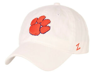 CLEMSON-TIGERS-NCAA-WHITE-ADJUST-SLOUCH-STRAPBACK-SCHOLARSHIP-DAD-CAP-HAT-NWT