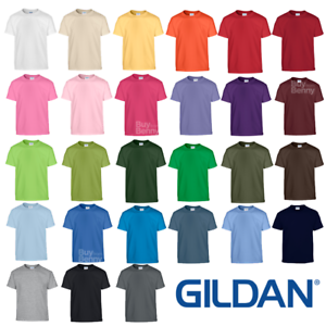 GILDAN-CHILDREN-039-S-T-SHIRT-100-SOFT-COTTON-PLAIN-COMFORT-COLOURS-BOYS-GIRLS-KIDS