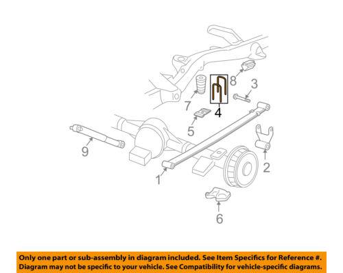 GM OEM Rear Suspension-U-bolt 11518426