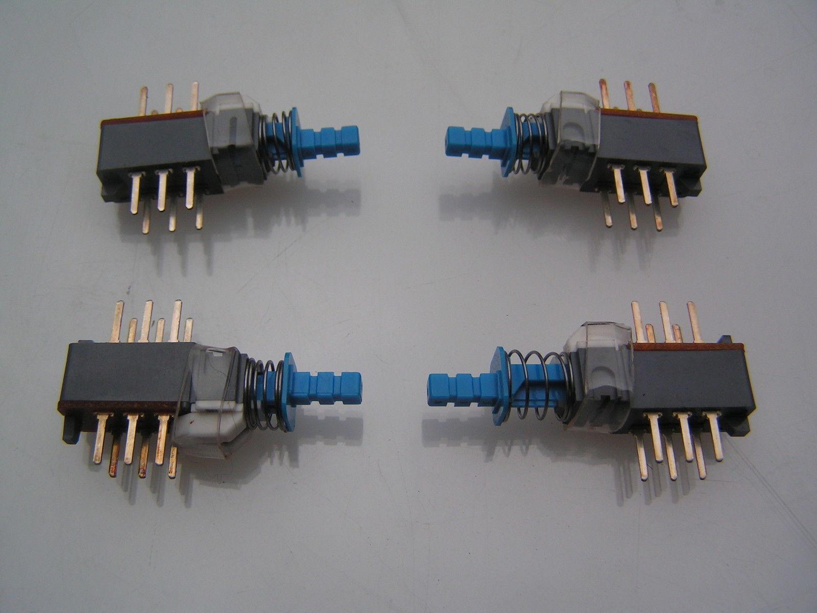 Alps ASUE98015 Rast Druckschalter und Kappe Dpdt 4 Teile OM0534