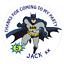48-Personnalise-Fete-Sac-Autocollants-Batman-Sweet-Sac-Seals-40-mm-etiquettes miniature 1