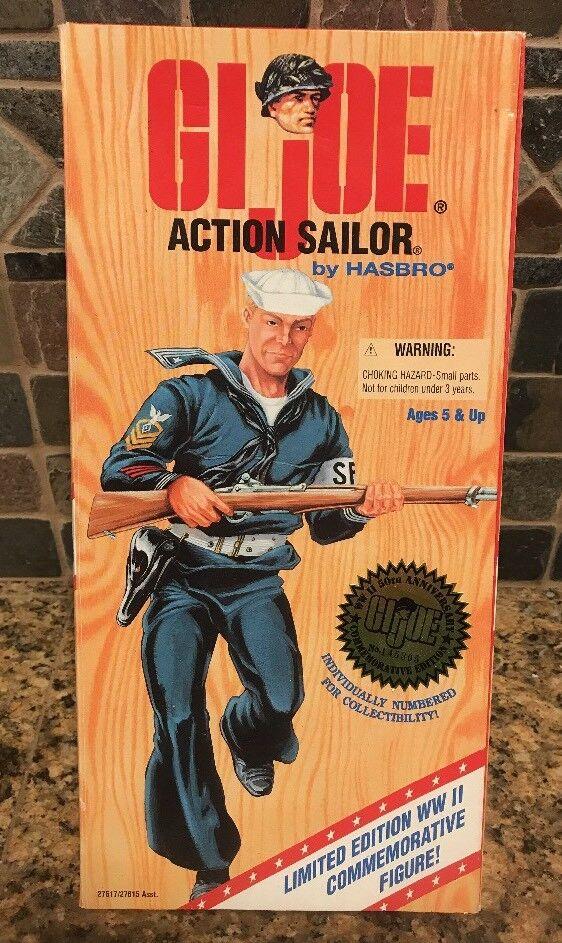 Vintage GI Joe Action Sailor 1995 Hasbro Figure Limited Edition No. 145305