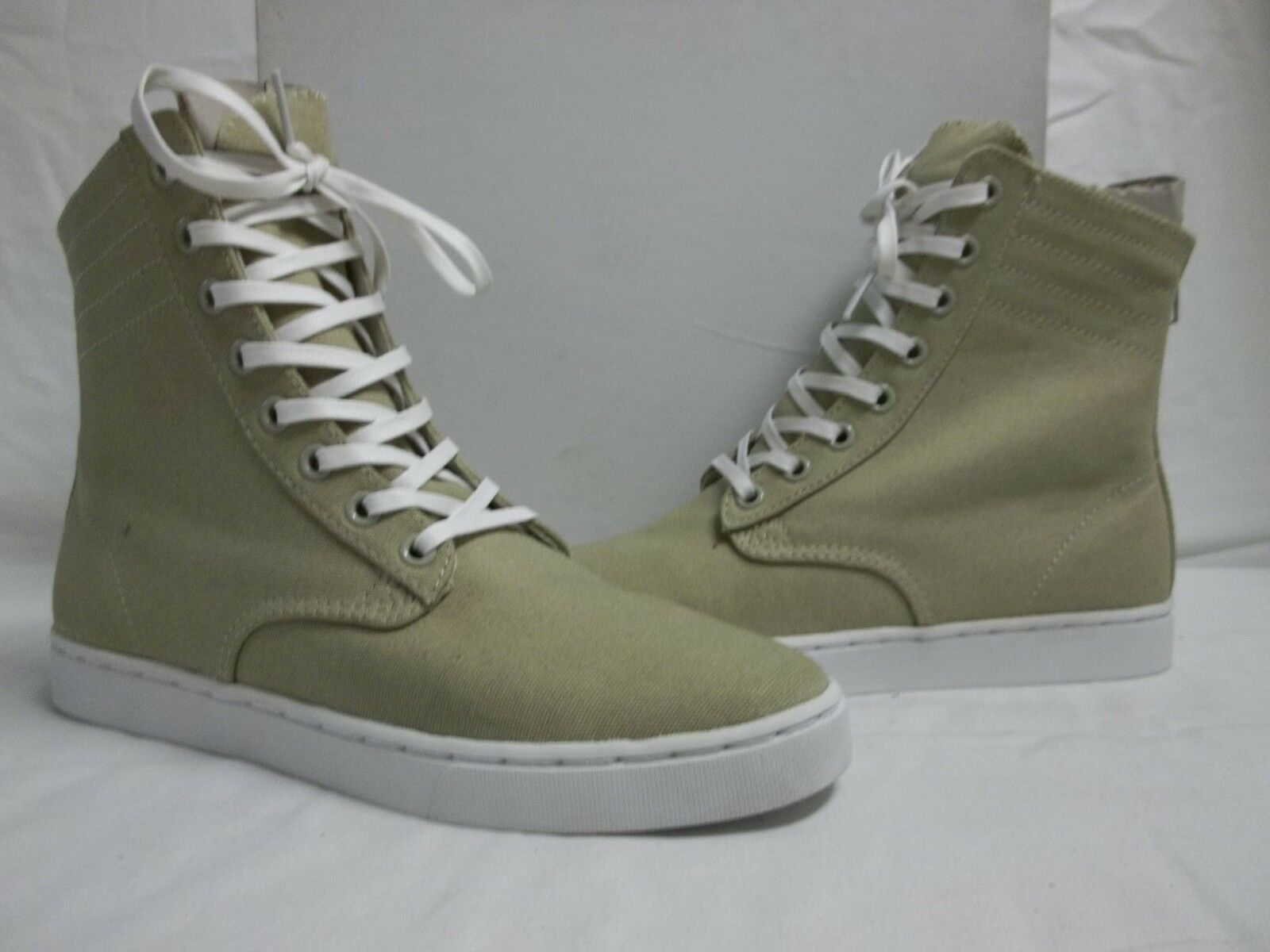 KR3W Sz EU EU EU 41   8 M Franklin Off White Canvas High Top  New Uomo Shoes 370343
