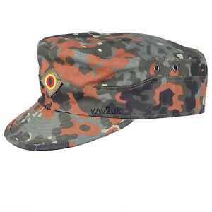 GERMAN-ARMY-FLECKTARN-CAMO-MILITARY-CAMOUFLAGE-FIELD-CAP-HAT-SIZE-L-36297