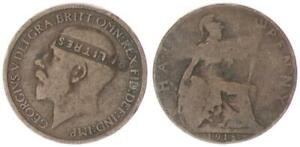 1 Penny 1918 Grossbritannien Half Penny, Georg v. mit Gegenstempel LITRES 58550