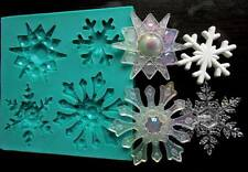 Silicone Mould FROZEN SNOWFLAKES Sugarcraft Cake Decorating Fondant / fimo mold