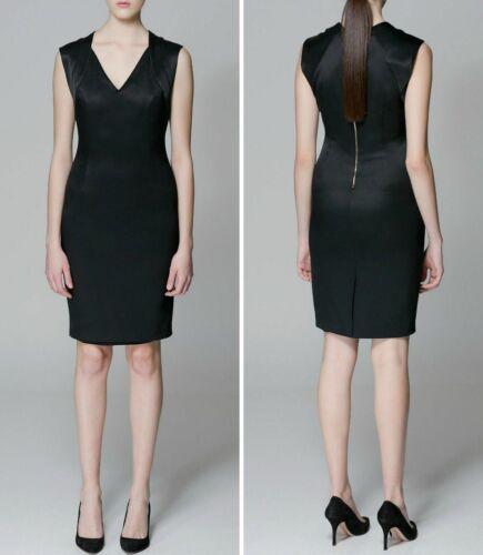 di ufficio scollo a Classic lavoro Black V Vestitino con Nuovo senza maniche formale Zara Zq7xnS1