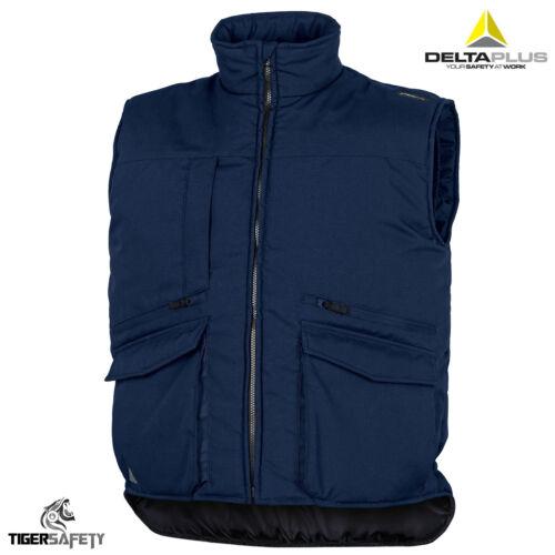 DELTA Plus Sierra 2 Navy Blue Imbottito Gilet Imbottito Gilet Gilet Lavoro Giacca Cappotto Nuovo con Etichetta
