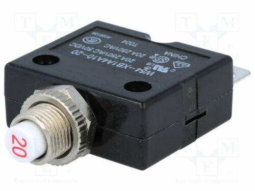 Überstromschalter 20A Unenn 1 1423674-9 Überstr 250VAC Spst-Nc 50VDC Anz.pole