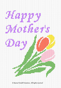 Details about Crochet Patterns - HAPPY MOTHER'S DAY Color Graph Pattern