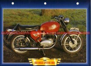 BSA 650 A65 SS Spitfire MK II MK2 A-65 1966 Fiche Moto #001082