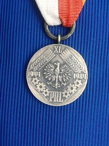 Poland-Medal-of-the-40th-anniversary-of-Polish-People-039-s-Republic