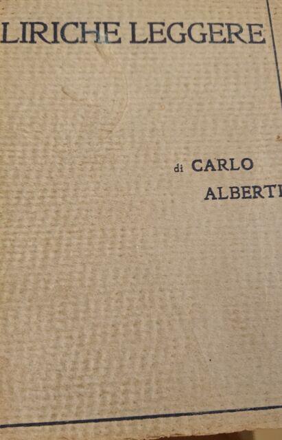 Alberti Carlo ; LIRICHE LEGGERE ; Treves 1923 | eBay
