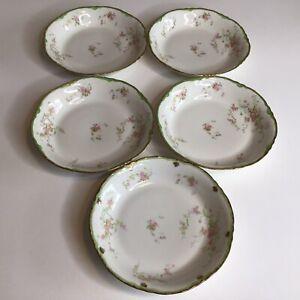 "Vintage Warwick China 7"" Soup Plates Bowls Set Of 5"
