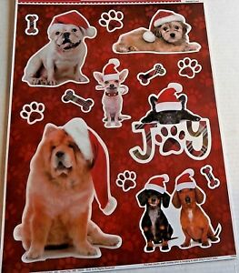 CHRISTMAS-Window-Clings-CHRISTMAS-PUPPIES