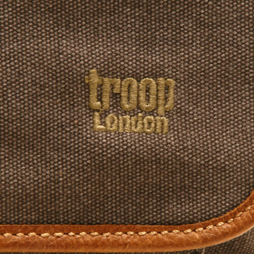 noir toile London messager Troop en Sac cuir Heritage I7wSx