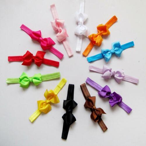 10pcs Kids Baby Girls Cute Headband Hair Band Bowknot Headwear Accessories New