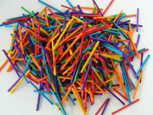475 pcs environ 35 gr Bâtons bois allumettes multicolore maquette loisirs DIY