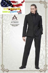 1 6 traje de negocios negro para hombres Loki conjunto completo de Hot Juguetes Avengers ATX033 ❶ USA ❶
