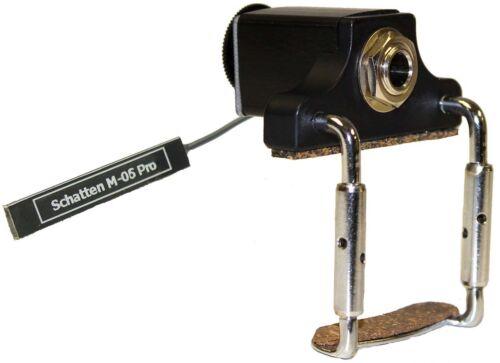 Schatten M-06-PRO Stick-on Mandolin Pickup w/Side-Mounted Clamp-on Jack, Volume