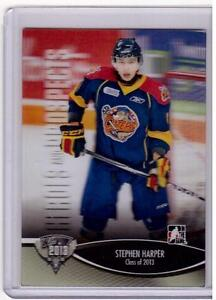 STEPHEN-HARPER-12-13-ITG-H-amp-P-Class-of-2013-3D-Rookie-RC-184-SP-3-D-Hockey-Card
