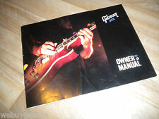 2008 Gibson Guitar Owners Manual Les Paul Robot SG ES 175 335 Flying V Explorer