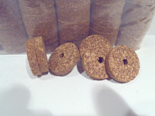 "Red Spotted 1 1//4/"" x 1//4/"" x 1//4/"" Cork Rings 4 Brown"