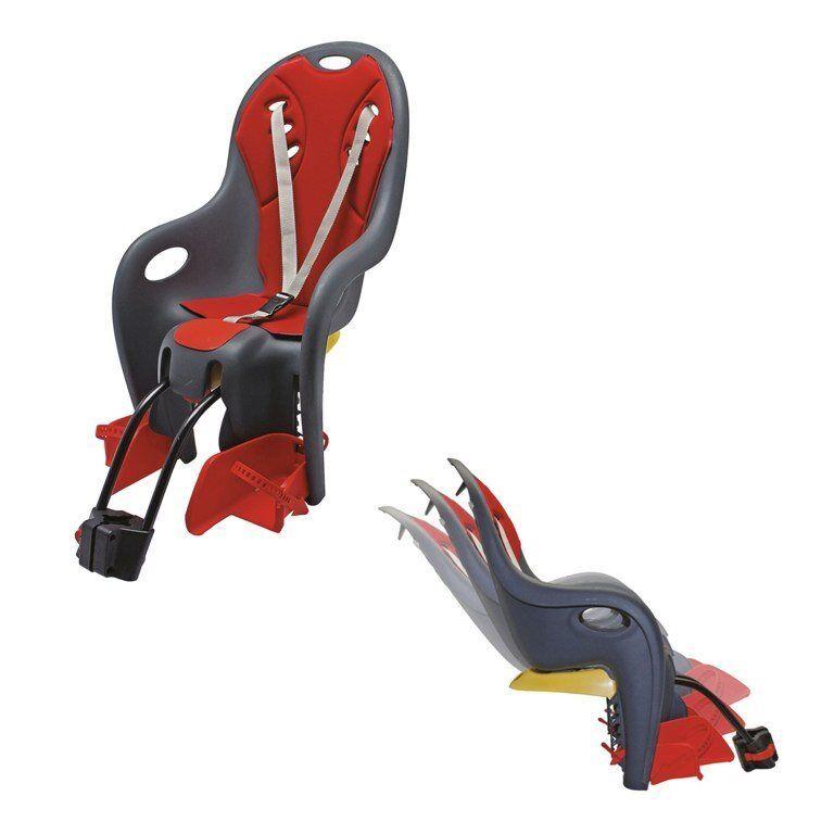 Seggiolino posteriore bikey relax reclinabile con attacco al telaio antracitero