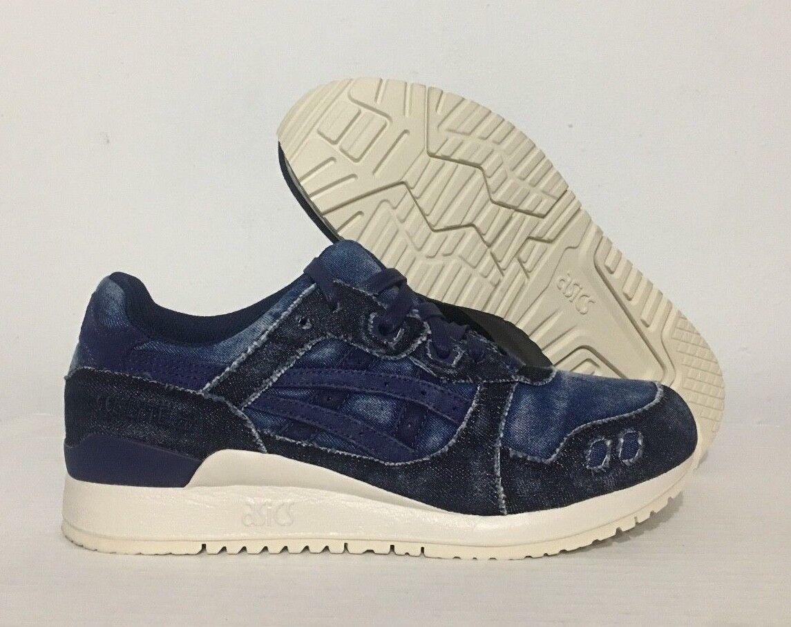 Asics Gel Lyte III Japanische Denim Schuhe Indigoblau Indigoblau Sz (H7D3N-4949)