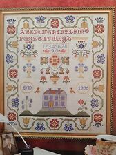 Pastel Sampler counted cross stitch magazine pattern, fabric & floss lot