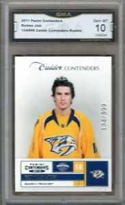 GMA-10-Gem-Mint-ROMAN-JOSI-2011-12-Pacific-Contenders-ROOKIE-Card-Predators-RARE