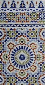 spanische mosaik keramik ornament fliesenspiegel bunt vintage k che bad kasbah ebay. Black Bedroom Furniture Sets. Home Design Ideas