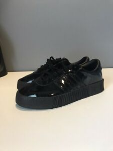 equipaje Médico Cumplido  Adidas Originals Sambarose Black Patent Leather Sneakers CG6618 Womens Sz  5.5 | eBay
