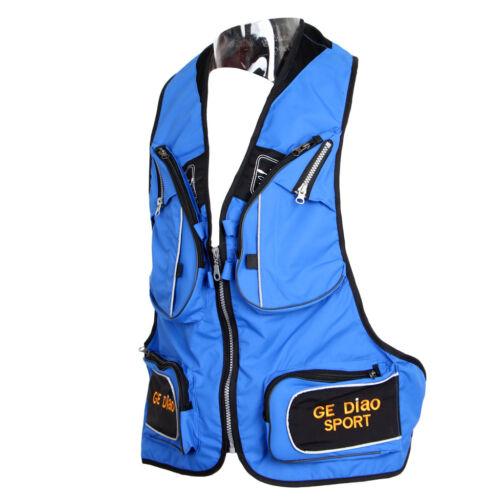 Unisex Angler Outdoorweste Mit Vielen Taschen Atmungaktiv Weste Anglerweste
