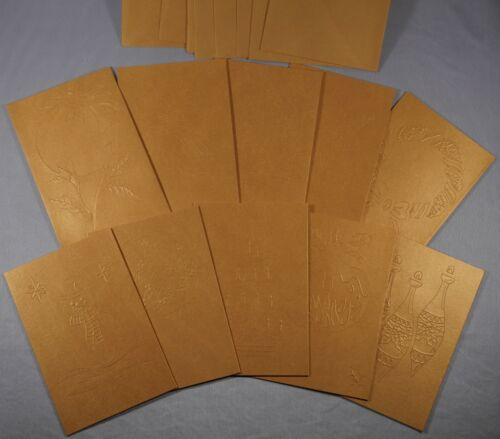 "6 x 4/"" window aperture tri fold christmas cards card blanks envelopes set of 10"