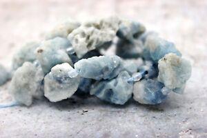 Raw-Aquamarine-Chips-Rough-Cut-Natural-Gemstone-Beads-Full-Strand