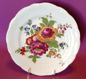Large Bayreuth Serving Plate west Germany Gloria Handwork Bavarian Flowers