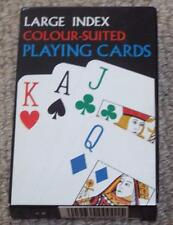 LARGE INDEX COLOUR SUITED PACK OF PLAYING CARDS