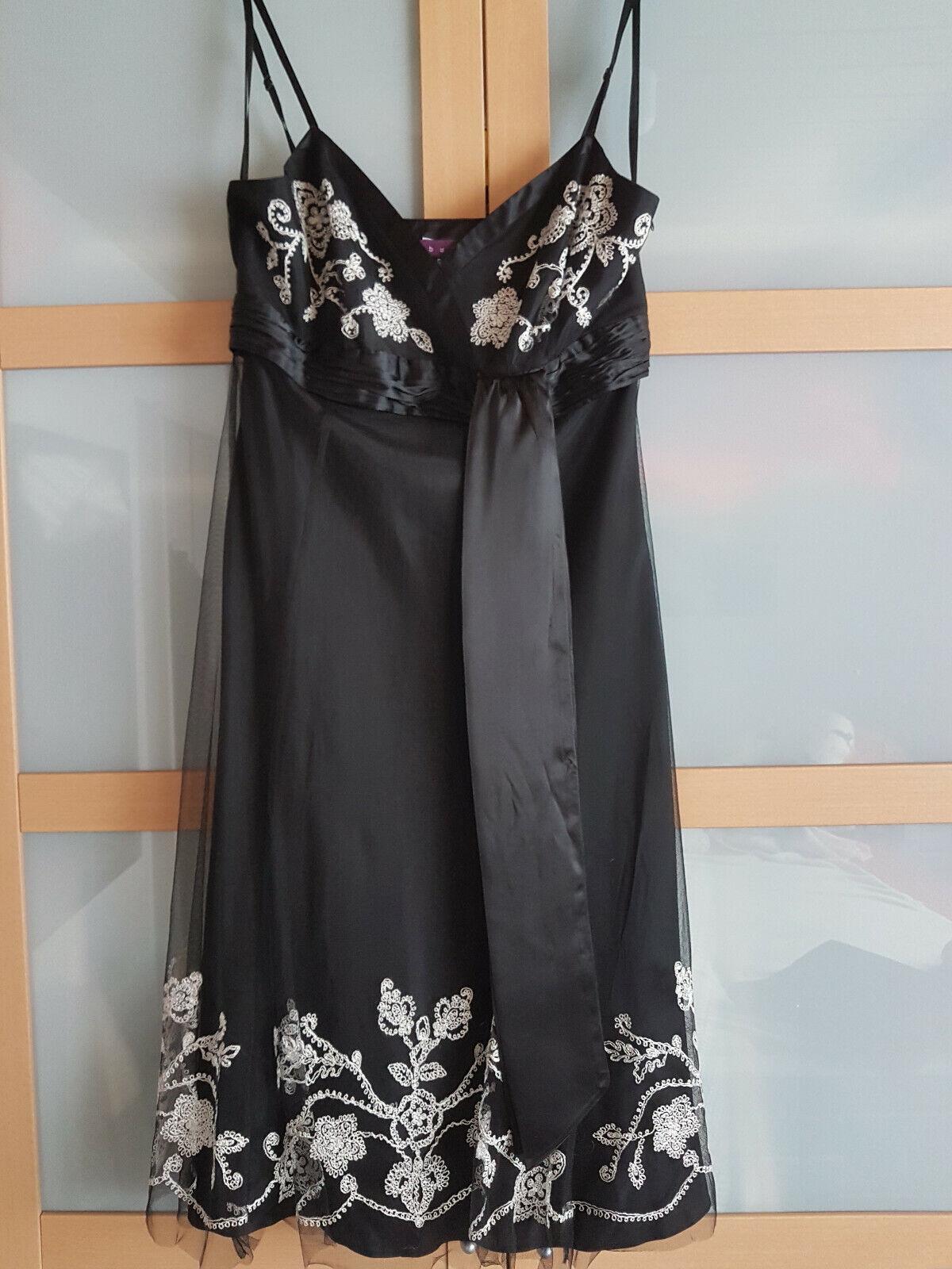 Debut Schönes Kleid schwarz weiß, leicht Gr. 14 (40)