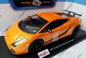 MAISTO-1-18-Scale-2007-Lamborghini-Gallardo-Superleggera-Orange-Diecast-Model