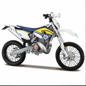 Husqvarna Fe 501 1 12 Moule Motocross Jouet Modele Moto Bleu Enduro Ebay
