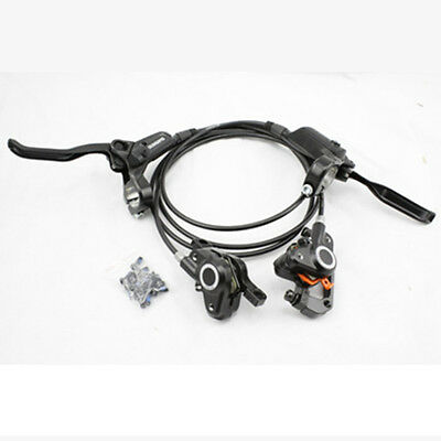 Shimano M615 Hydraulic Disc Brake Set Front /& Rear With Bolts and Brake Pads