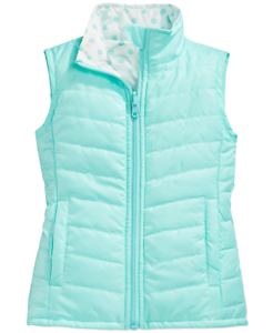 Layer-8-Little-Girls-039-Reversible-Packable-Puffer-Vest-Glacier-White-Dot-6