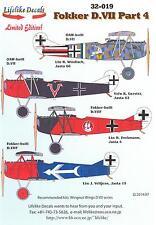Lifelike Decals 1/32 FOKKER D.VII German WWI Fighter Part 4
