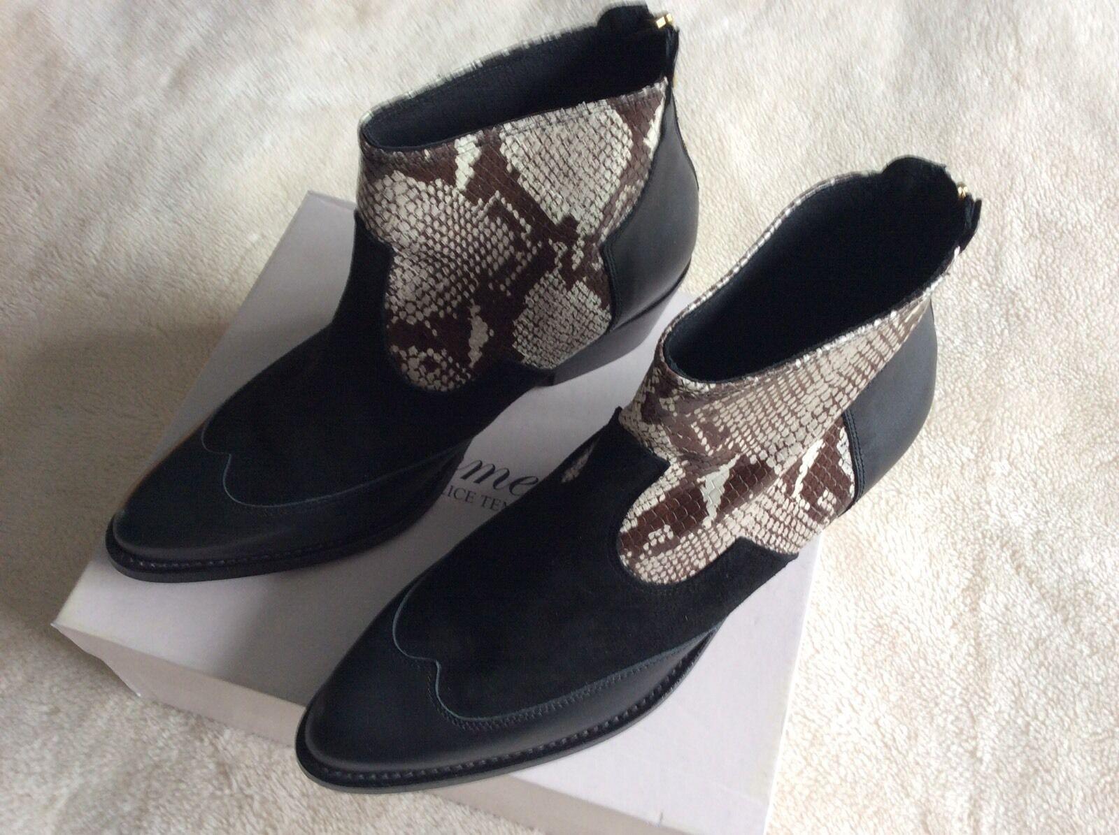 Somerset by Alice Temperley Ledbury Leder/Suede Ankle Stiefel UK 5