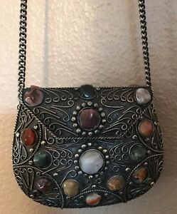 asos festival prd beaded wid xxl necklace purse constrain fit