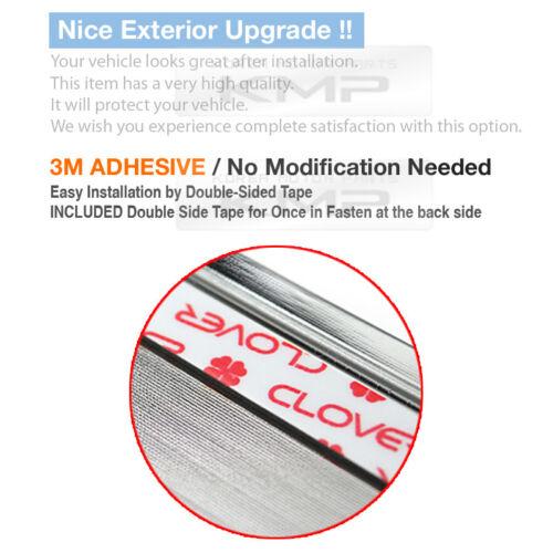 Chrome Side Skirt Door Line Sill Garnish Molding Trim Cover 4Pcs for PEUGEOT Car