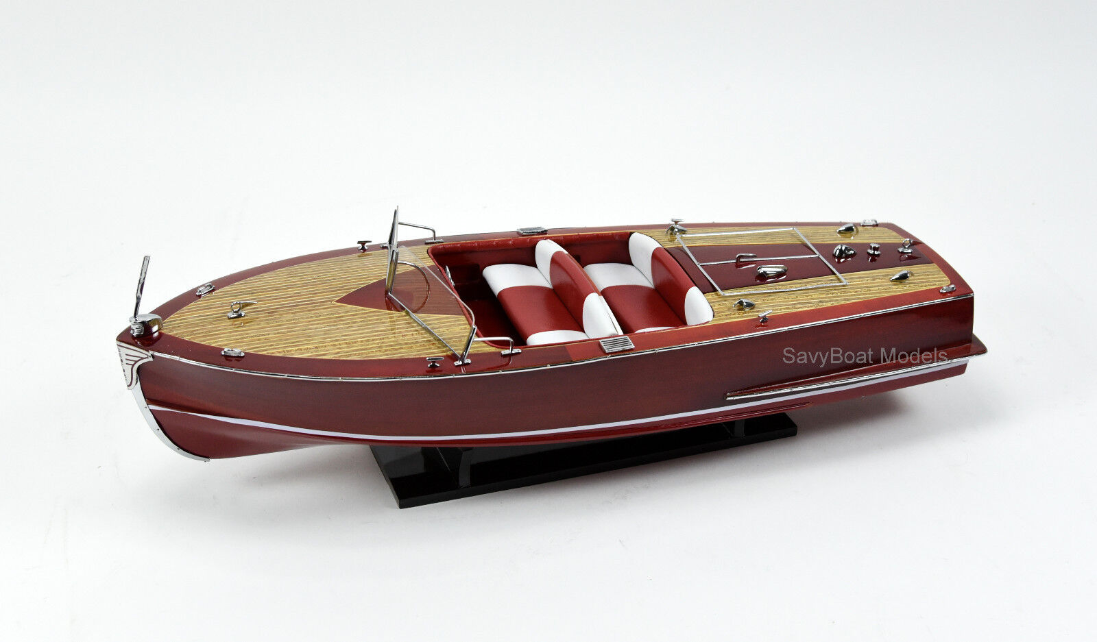 Century Sea Maid 28 28 28  - Handmade Wooden Classic Boat Model - RC Ready 8b2350